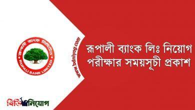 Rupali Bank Limited Exam