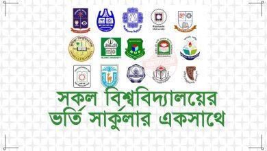 BD All University Admission Circular