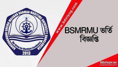 BSMRMU Admission Circular