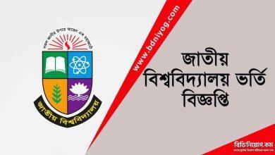 National University Admission Circular
