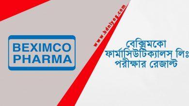 Beximco Pharmaceuticals Ltd Exam Result