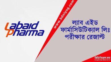 Labaid Pharmaceuticals Ltd Exam Result