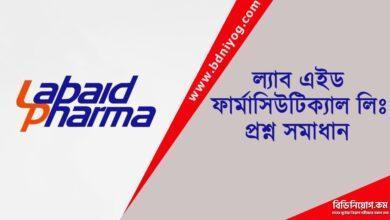 Labaid Pharmaceuticals Ltd Question Solution