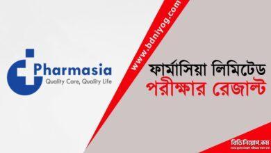 Pharmasia Limited Exam Result