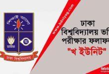 Dhaka University B Unit Admission Result